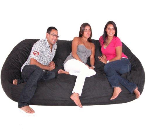 Cheap 8 Feet Xx Large Black Cozy Sac Foof Bean Bag Chair Cheap Home Save 200