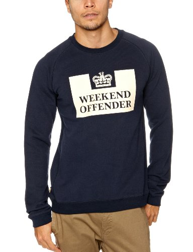 Weekend Offender Penitentiary Men's Jumper Navy Medium