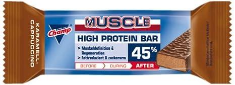 Champ Protein Bar 45% Karamel-Cappuccino, 24er Pack  (24 x  45 g)