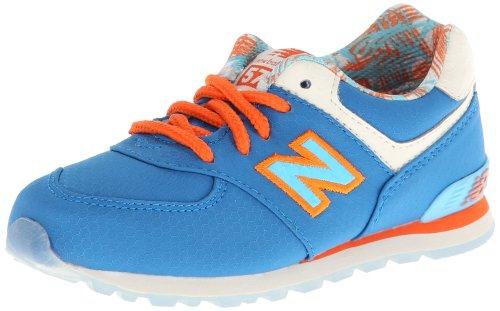 New Balance Kl574 Running Shoe (Infant/Toddler),Blue/Orange,8 M Us Toddler front-941534