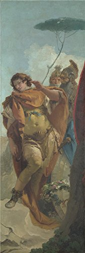 Polyster Canvas ,the Art Decorative Canvas Prints Of Oil Painting 'Giovanni Battista Tiepolo Rinaldo Turning In Shame From The Magic Shield ', 8 X 24 Inch / 20 X 60 Cm Is Best For Kids Room Decor And Home Decoration And Gifts (Marvel Magic Mystery Oil compare prices)