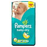 Pampers Baby Dry Pañales Tamaño 4 + grande Paquete 56 Pañales