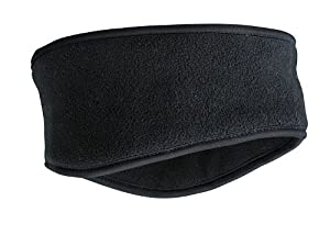 FLEECE THINSULATE PREMIUM HEADBAND WINTER SKI - 7 GREAT COLOURS (MB7929) (BLACK)