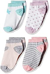 Fox Girls' Socks  (White_30-35_914340)