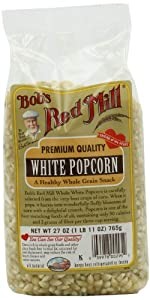 Bob's Red Mill Corn Popcorn White, 27-Ounce (Pack of 4)