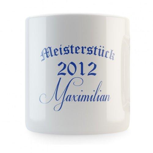 Meisterstück 2012 (mit individuellem Namen) Spardose, Druckfarbe:blau