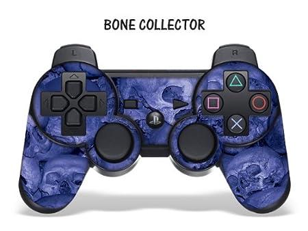 Designer Skin for Playstation 3 Remote Controller - Bone Collector Blue