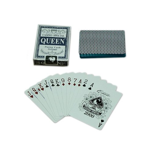 Trademark Poker Queen Playing Cards - 1 Deck (Blue)
