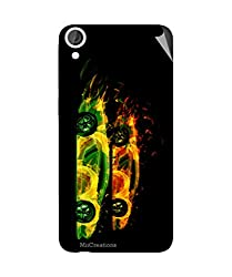 Miicreations Mobile Skin Sticker For HTC Desire 820,Fire Car Pattern