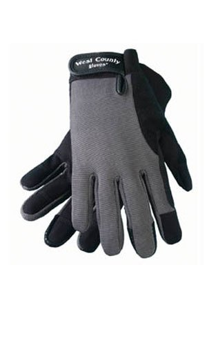 West County 019CHM Men's Work Glove, Charcoal, Medium