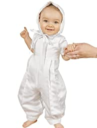 Sawyer 3 Month Satin Christening Baptism Blessing Outfits for Boys, Made in USA