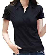 FACE N FACE Womens Cotton V Neck Pol…
