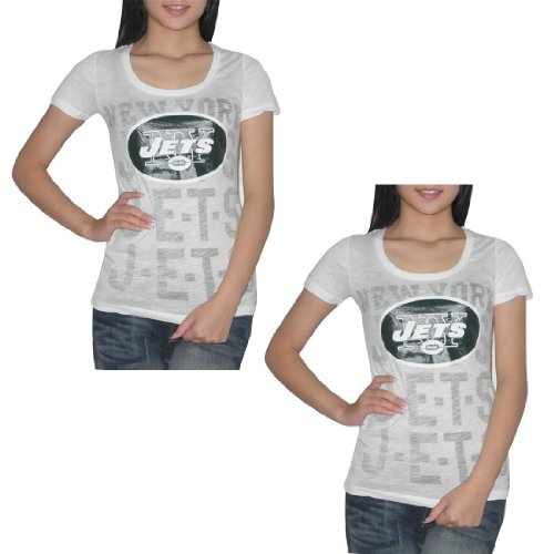 2 PACK:Pink Victoria's Secret Womens NFL New York Jets T Shirt / Tee - White (Size: L) at Amazon.com