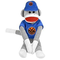 New York Knicks NBA Plush Uniform Sock Monkey by Forever Collectibles