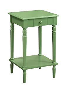Convenience Concepts 6053185 French Country End Table, Green
