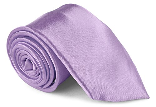 Moda Di Raza Men's Necktie 3 inch Satin Silk Finish Polyester Men Fashion Ties - Lavender (Neon Color Neck Ties compare prices)