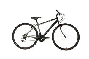 Falcon Men's Monza Hybrid Bike - (Black/Grey, 12+ Years, 18 Inch, 27.55 Inch) by Falcon