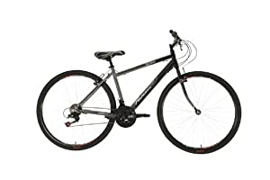 Falcon Men's Monza Hybrid Bike - (Black/Grey, 12+ Years, 18 Inch, 27.55 Inch)