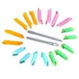 DIY Magic Hair Styling Rollers Curlers - Multicolored (18PCS)