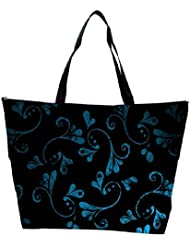 Snoogg Blue Abstract Design Designer Waterproof Bag Made Of High Strength Nylon