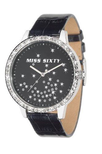 Miss Sixty Hypnotic R0751104501 - Orologio da polso da donna, cinturino in pelle colore nero