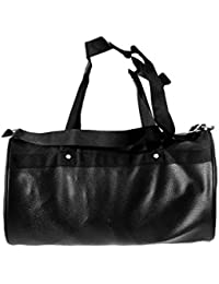 Faux Leather Black Gym Bag By GAG Wears