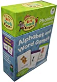 Roderick Hunt and Alex Brychta Read with Biff,Chip and Kipper Phonics Flash cards Collection (96 Cards + 6 Cards for Parents Guidelines and Notes, Includes 2 flashcards sets (Alphabet and Word Games)