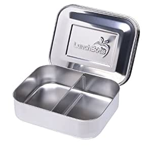 LunchBots Duo Stainless Steel Food Container, Stainless Steel