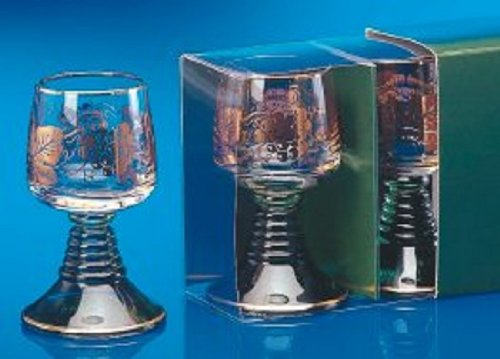 2 German Rhein Liqueur Glass Roemers