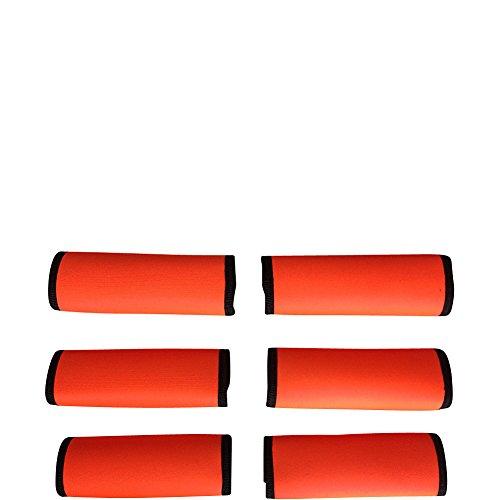 luggage-spotters-super-grabber-neoprene-handle-wrap-set-of-6-orange