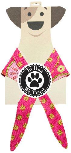 In Dog We Trust Gypsy Bandana, Large, Pink