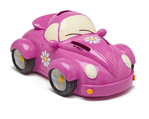 Pink Car Bank-Coin Bank for Girls - Teach Financial Literacy for Kids - Perfect Kids Money Bank - Piggy Bank of the Future