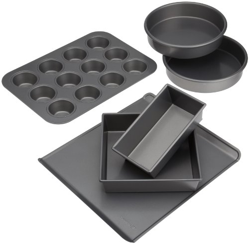 Chicago Metallic 36606R Commercial II Non-Stick Essential Bakeware Set, 6-Piece