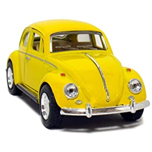 "Amazon.com: 5"" 1967 Volkswagen Classic Beetle 1:32 Scale (Yellow"