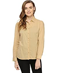 Beige Shirt With Design Mesh Insert At Back Large