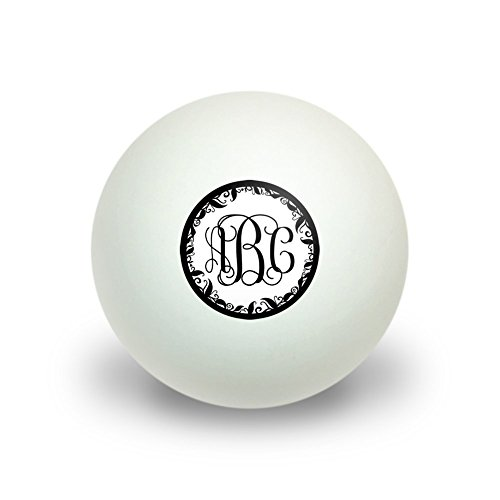 Graphics and More Personalized Custom Novelty Table Tennis Ping Pong Ball 3 Pack - Monogram Fancy Font Vine Outline (Personalized Ping Pong Balls compare prices)