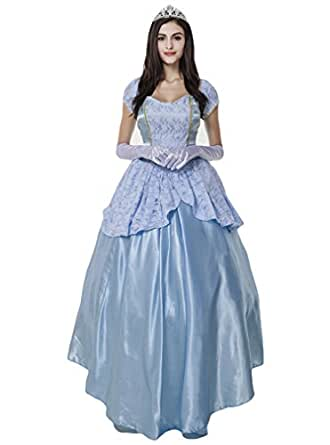 OURS Women's Classic Cinderella Ball Dress Halloween Costume