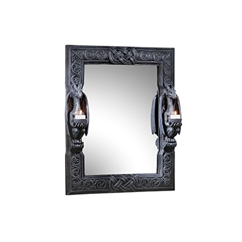 Design Toscano Dragons Thorne Twin Sentinal Dragons Mirror