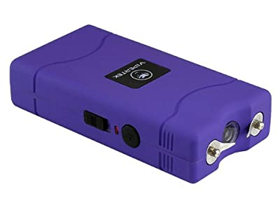 Vipertek VTS-880Pu V Mini Stun Gun Rechargeable with LED Flashlight (Purple) from ViperTek