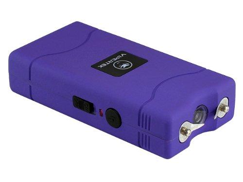 VIPERTEK VTS-880 - 15,000,000 V Mini Stun Gun - Rechargeable with LED Flashlight (Purple)