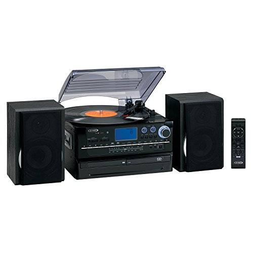 3-Speed-Turntable-with-2-CD-player