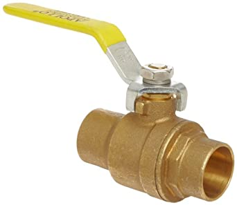 Apollo 94ALF-200 Series Brass Ball Valve, Potable Water Service, Two Piece, Inline, Lever, Solder End