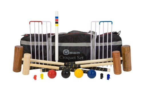 Uber Games Family Croquet Set with different size mallets for all family members - without storage bag.