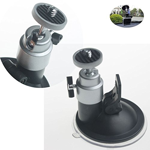 Theera - Car Windshield Suction Cup Mount Tripod Holder Rotating For Gopro Camera DV GPS. YRS0817