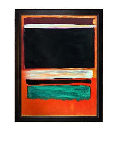 Mark Rothko No.3, No.13, Magenta, Black, Green On Orange, 1949 Framed Oil Reproduction