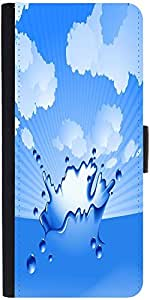 Snoogg Clear Water Splash Vector Designer Protective Phone Flip Case Cover For Vibe K4 Note