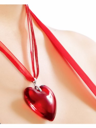 Sexy Womens Adult Heart Pendant Necklace Roma Costumes Accessory - As Shown, One Size