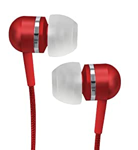 Coby CVEM79RED Jammerz Platinum High-Performance Isolation Stereo Earphones, Red (Discontinued by Manufacturer)