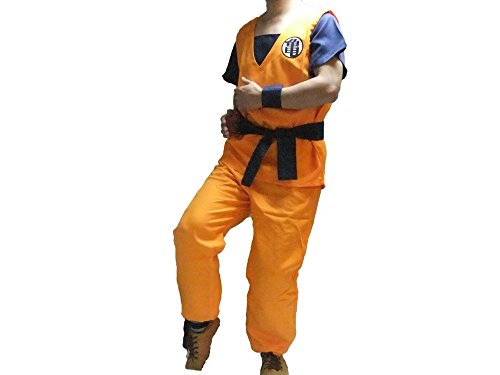 Dragon Ball Z Goku Suit Cosplay Costume (XL, Turtle) (Goku Costume Adult)