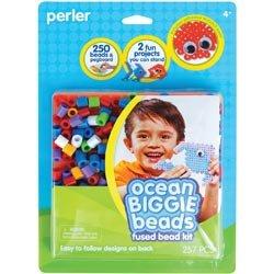 Perler Fun Fusion Biggie Fuse Bead Activity Kit Ocean; 2 Items/Order
